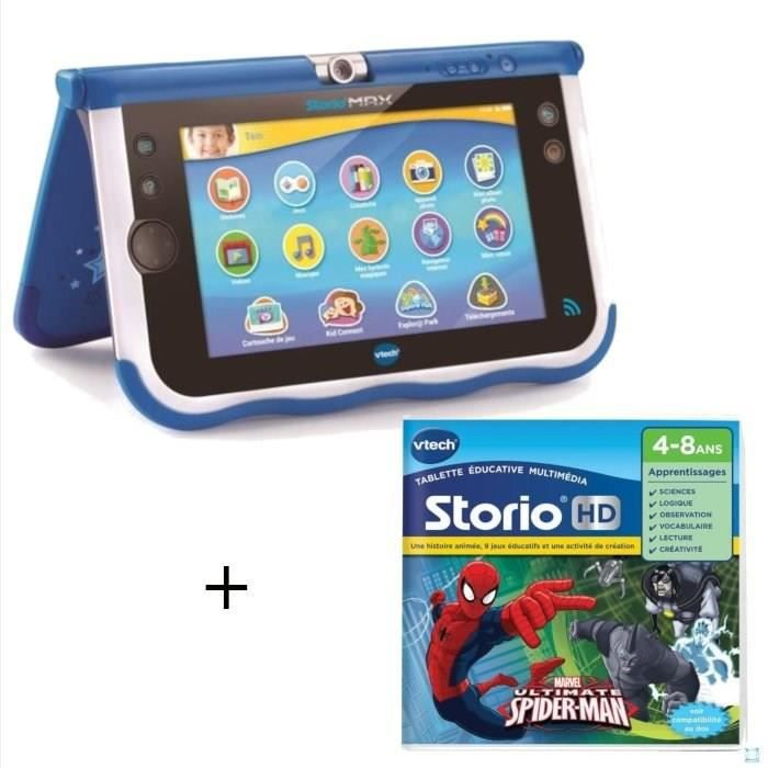 VTECH - Console Storio Max 7- Bleue + Jeu SpiderMan