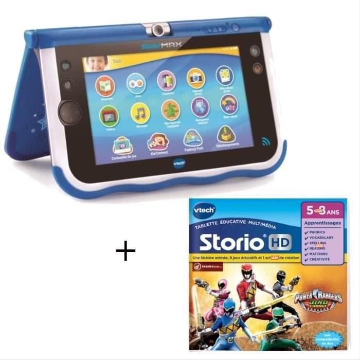 VTECH - Console Storio Max 7- Bleue + Jeu Power Rangers