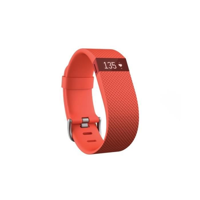 Fitbit Charge HR orange taille L