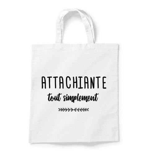 Tote bag - Coton - Blanc GS ATTACHIANTE TOUT SIMPLEMENT