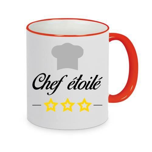mug - Céramique - Rouge LMK CHEF ETOILE