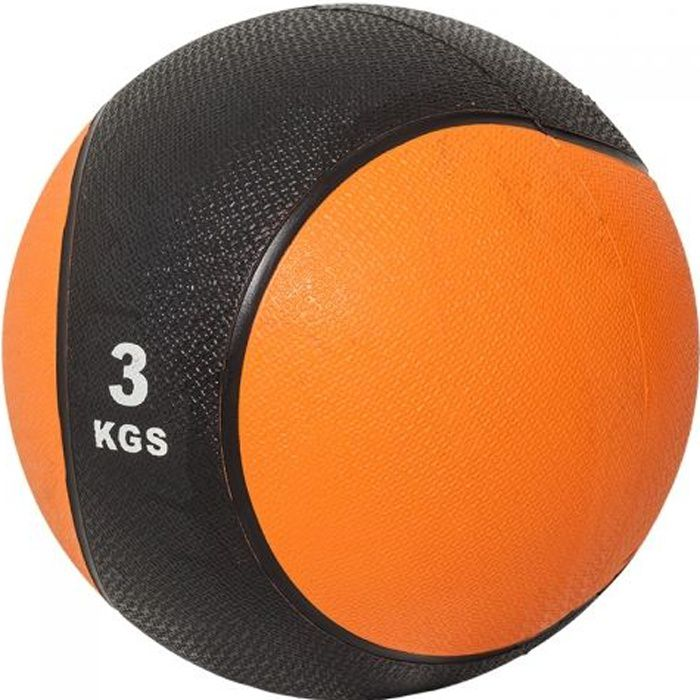 Gorilla Sports Médecine ball 3kg orange-noir