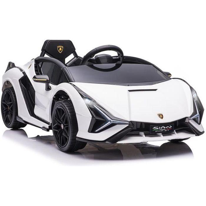 Voiture électrique enfant Lamborghini Sian 12 V blanc