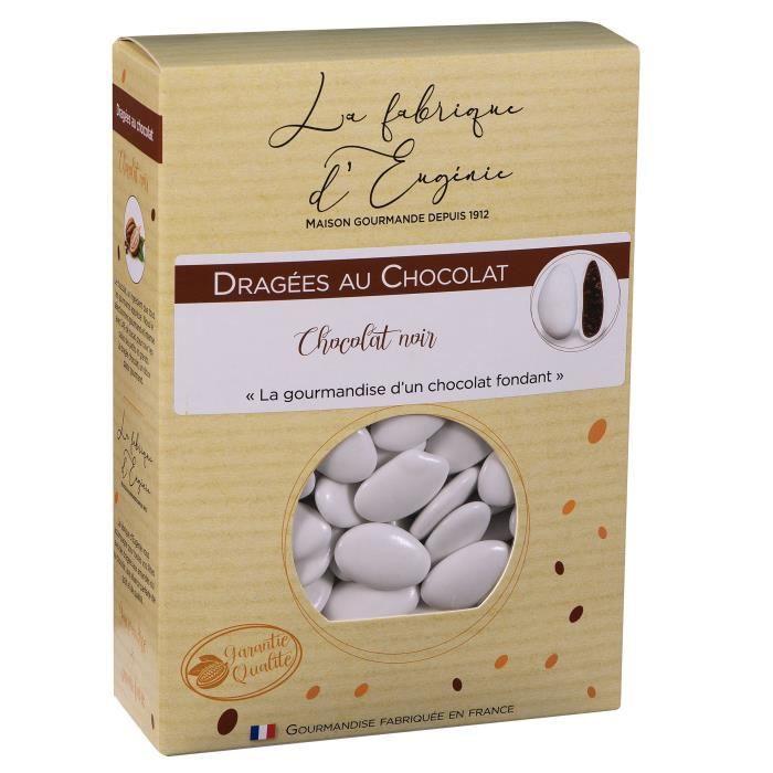 LA FABRIQUE D'EUGENIE Dragées au chocolat noir - Blanc - 1 kg