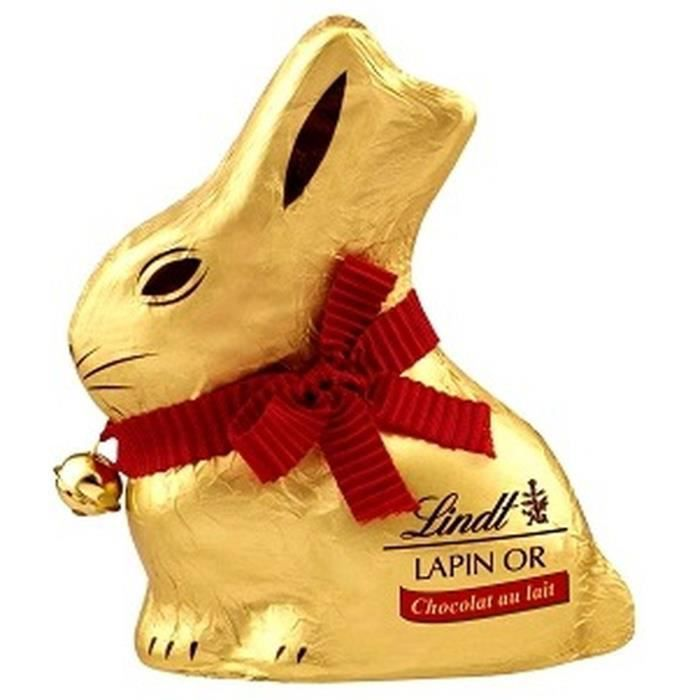 Chocolat Lindt Lapin Or Lait 200g pour Pâques