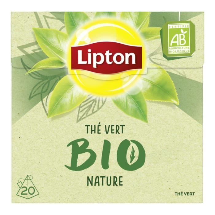 Thé vert bio nature 20 sachets Lipton