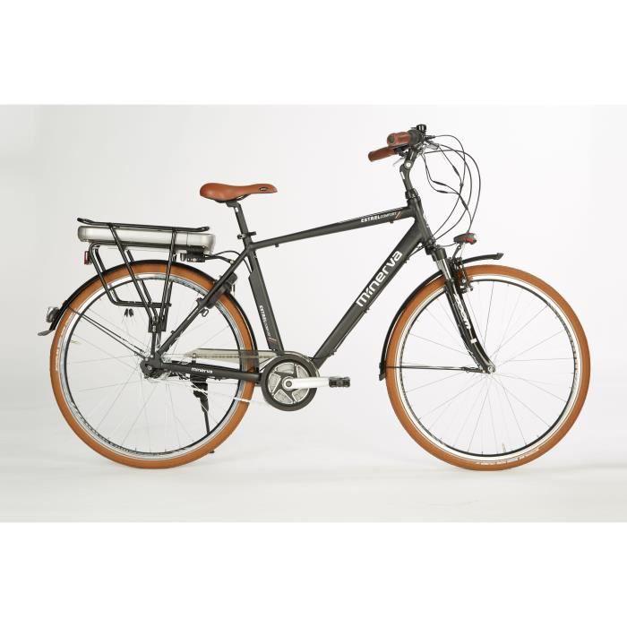 Vélo Estrel - Assistance électrique - Roues 28- - MINERVA - Homme - Noir