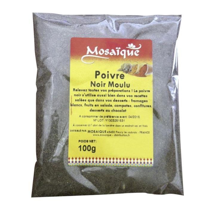 MOSAIQUE Poivre noir moulu - 100 g