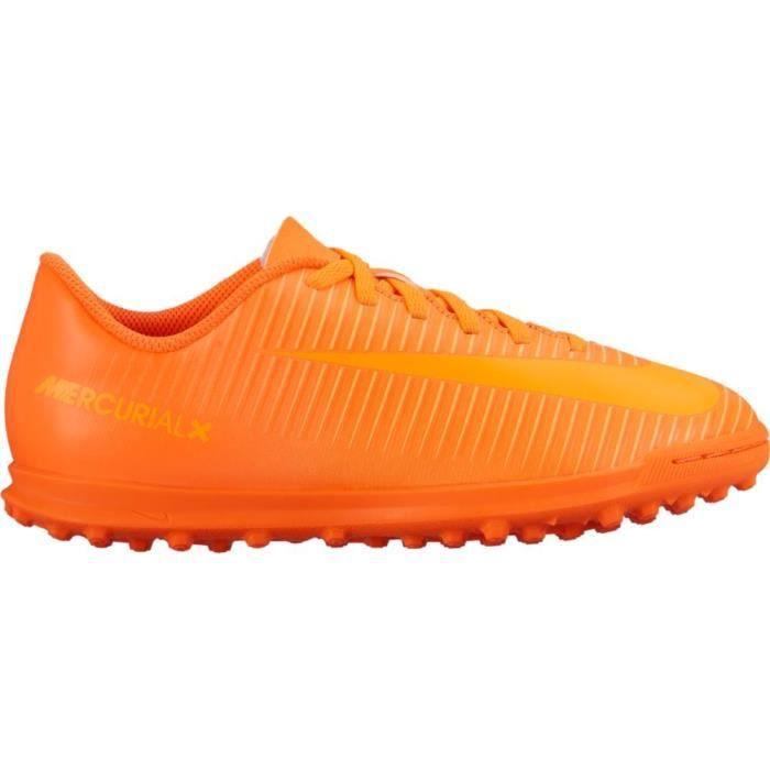 NIKE jr mercurial x vortex iii tf pour enfants - baskets en gazon synthétique - total orange X3YQJ Taille-38