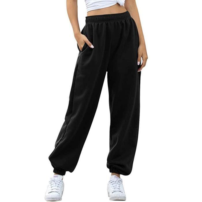 Tomwell Pantalon de Jogging Femmes Pantalons de Survêtement Long pour Running Fitness Training Élastique Taille Haute avec Poche