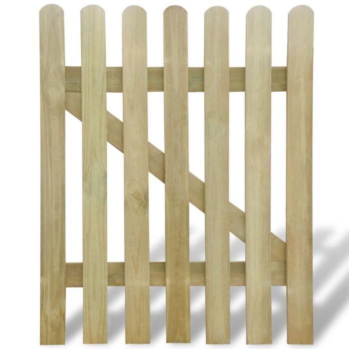 Haut qualité Porte de jardin Portillon 100 x 120 cm Bois FSC