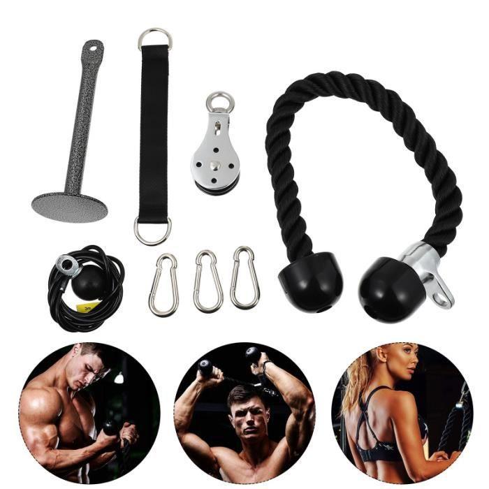 1 Ensemble portable Léger Poulie Câble Système pour femmes tapis de sol - tapis de gym - tapis de yoga fitness - musculation