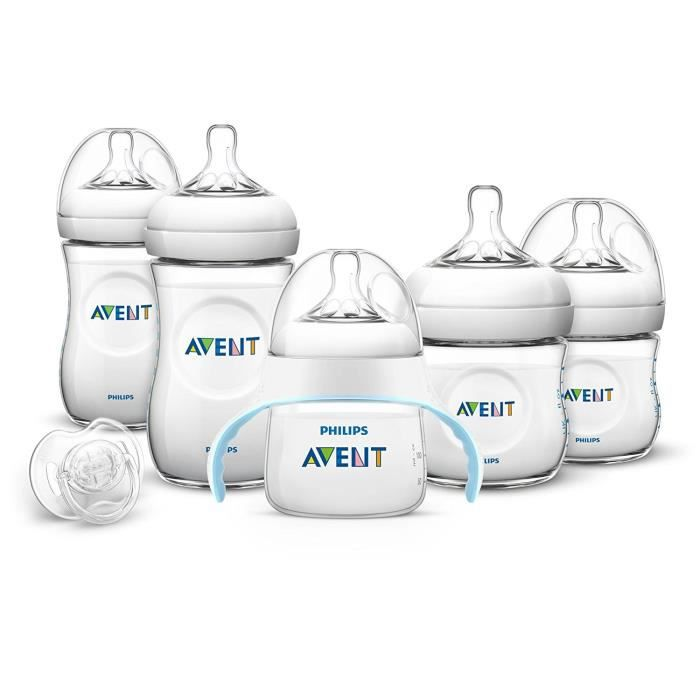 PHILIPS AVENT Pack biberons Natural + 1 tasse + 1 sucette 0-6M