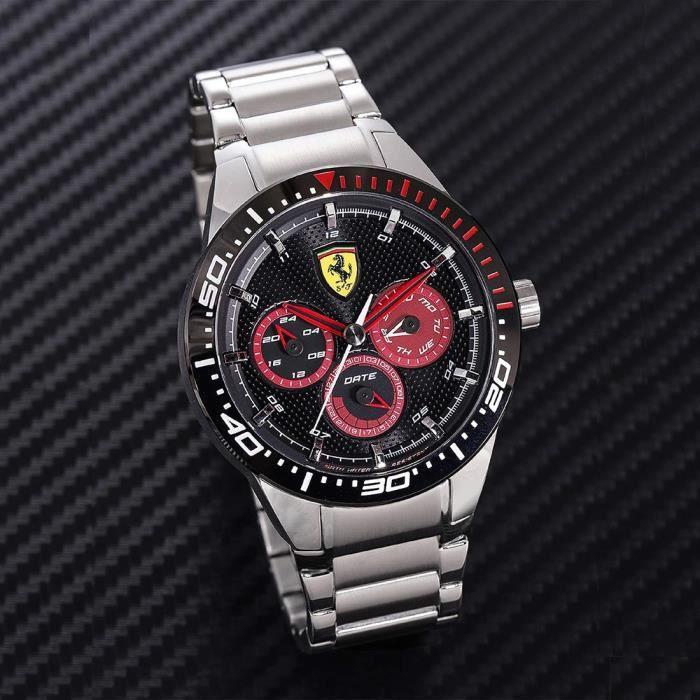 Scuderia Ferrari Hommes Multi-cadrans Quartz Montres bracelet avec bracelet en Acier Inoxydable - 830589 4801