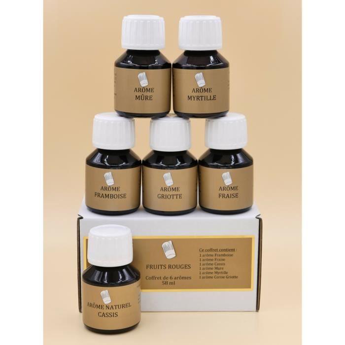 Coffret 6 arômes alimentaires 58ml FRUITS ROUGES