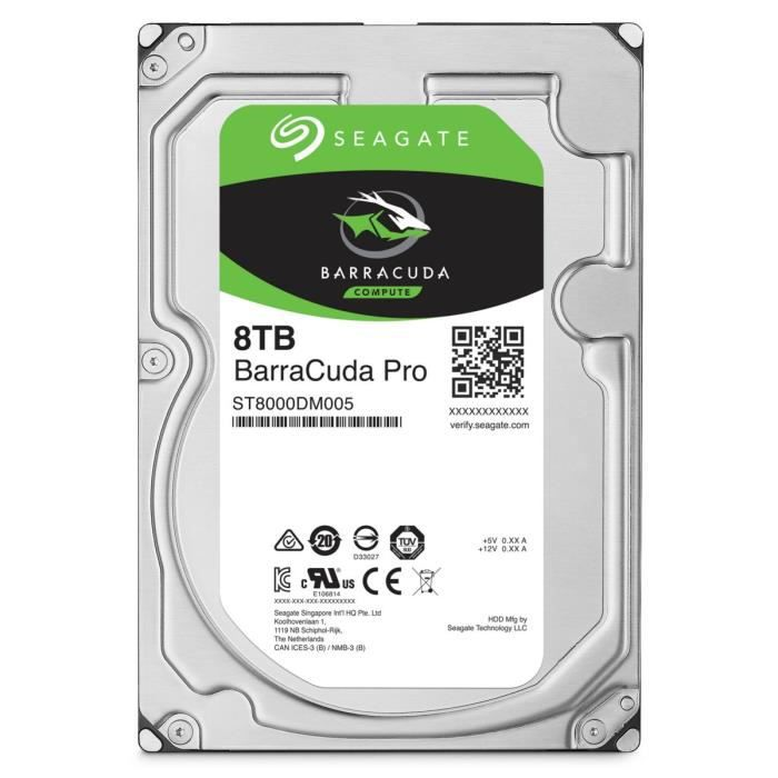 Seagate HDD BarraCuda Pro 8To 3,5