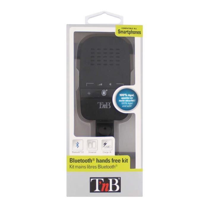 Grâce à ce kit mains libres Bluetooth, gérez vos appels dans votre véhicule en toute sécurité et en toute légalité. Son interfac...