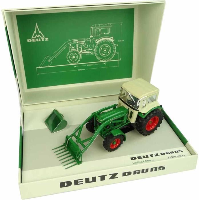 Coffret DEUTZ D-6005 4RM avec chargeur et cabine, Edition limitée à 1.000 exemplaires