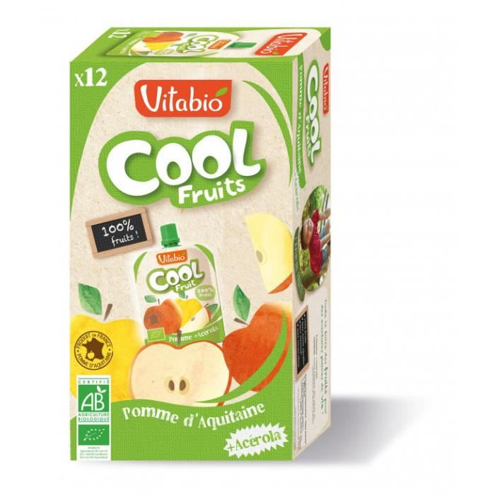 Compote cool fruits 12x90gr pomme 1080gr