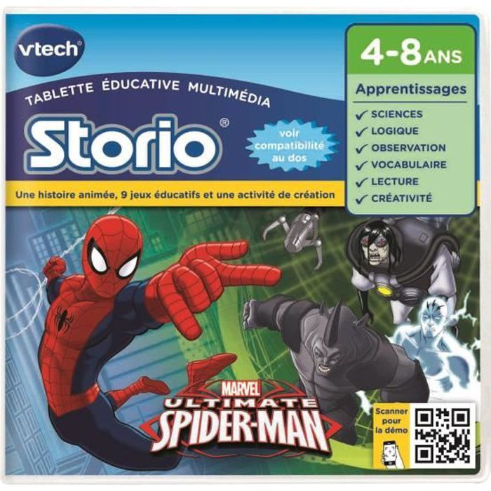 VTECH Jeu Educatif Storio Spiderman