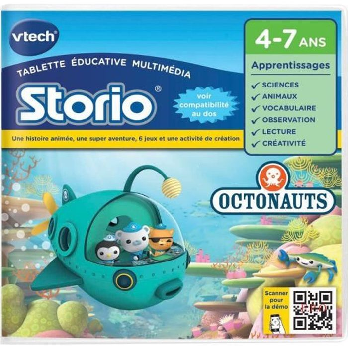 VTECH - Jeu Éducatif Storio - Octonauts