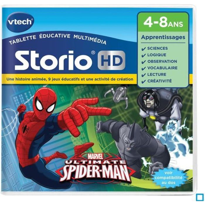 VTECH Jeu Hd Storio SpiderMan
