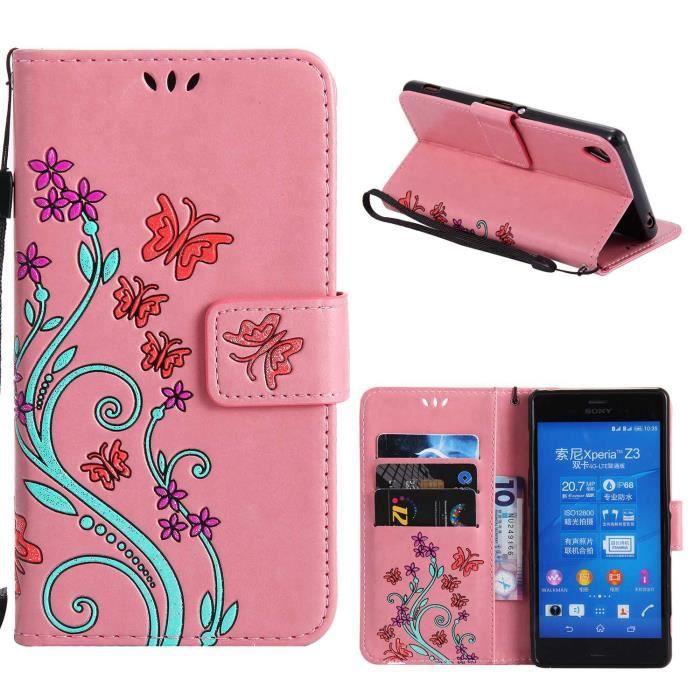 etui pour Sony Xperia XP Poudre, Premium les boîtiers de cartes et housse de Flip pochette