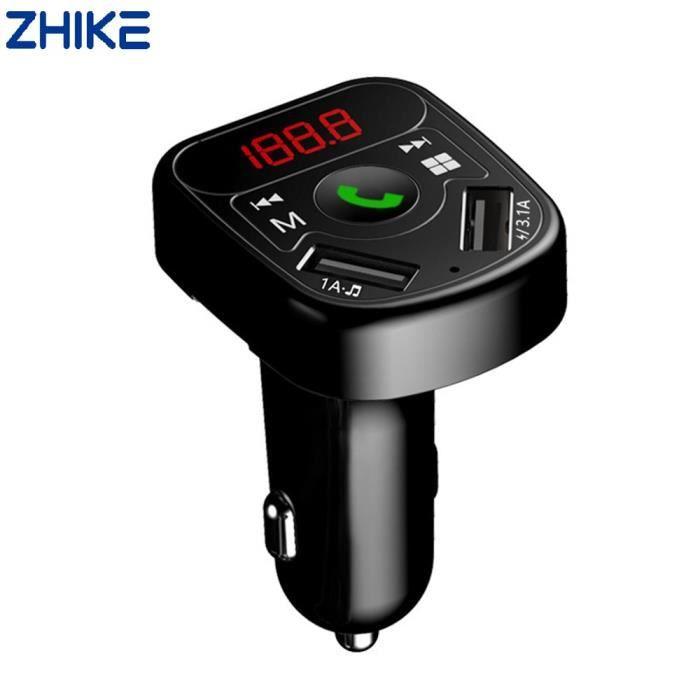 Transmetteur FM Bluetooth pour voiture Adaptateur radio sans fil Chargeur USB Lecteur MP3 Dual USB Charger 3.1A