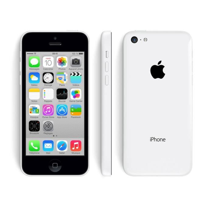 iphone 5c 16 go blanc reconditionne a neuf achat. Black Bedroom Furniture Sets. Home Design Ideas