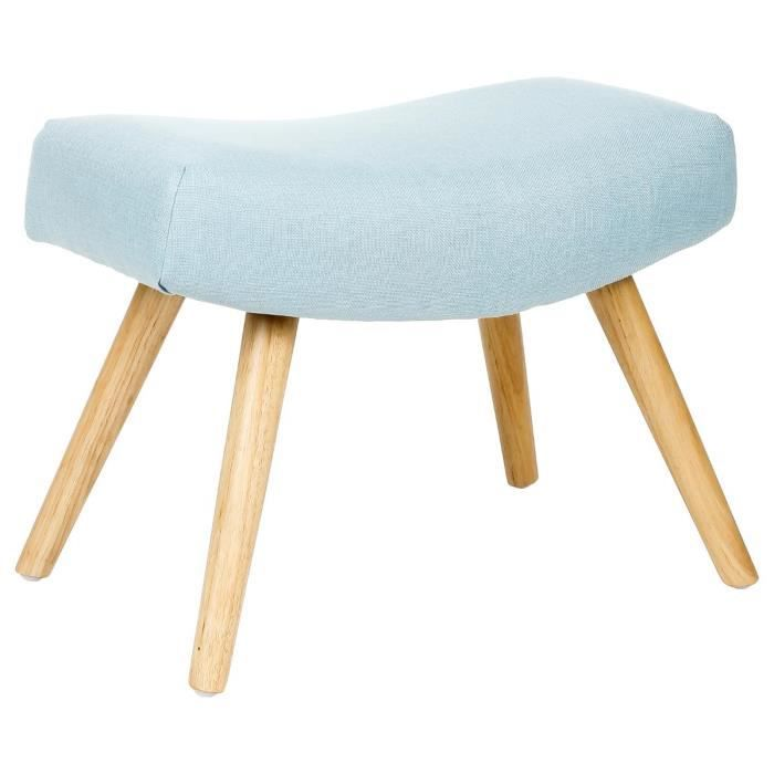 tabouret pouf original esprit scandinave coloris bleu polaire achat vente pouf poire. Black Bedroom Furniture Sets. Home Design Ideas