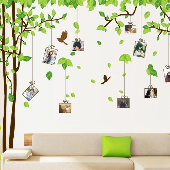 Grande arbre cadre photo art stickers muraux d coration for Decoration murale arbre de vie