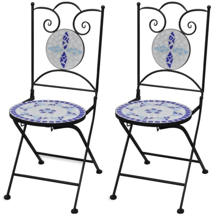 Chaise de jardin table salon de jardin 2 Pcs Ensemble De Sièges malega 12184-85 Table de jardin