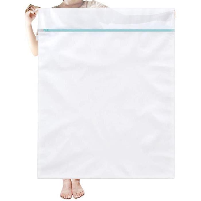 literie couverture 110 x 90 cm linge d/élicat filet fin pour machine /à laver avec fermeture /éclair en m/étal antirouille pour jouets rideau Lot de 2 sacs /à linge en maille extra large