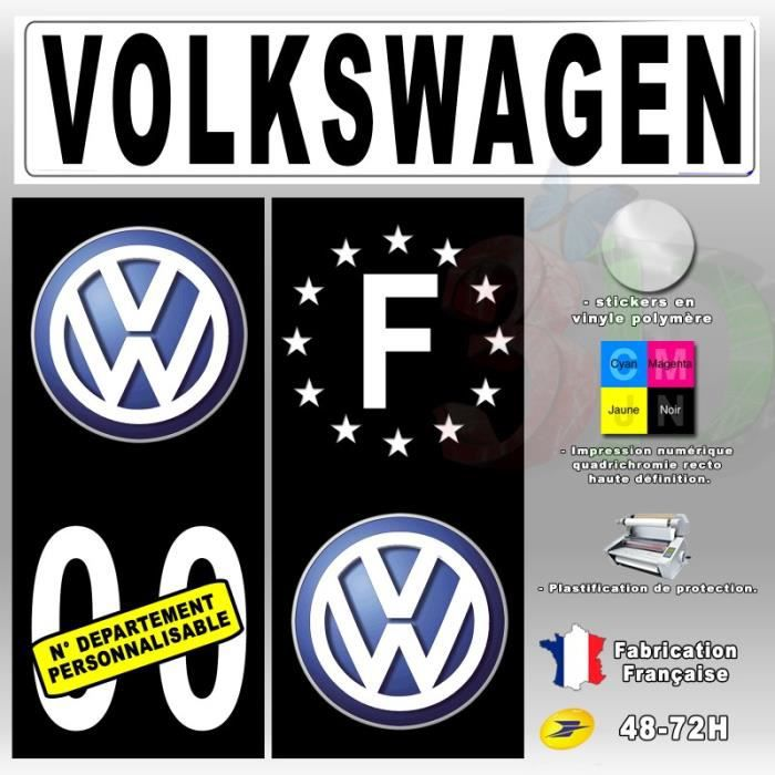 stickers plaque d 39 immatriculation 39 volkswagen 39 auto moto. Black Bedroom Furniture Sets. Home Design Ideas