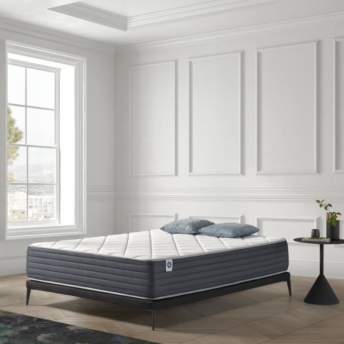 matelas aura 160x200 cm 7 zones mousse m moire face t hivers blue latex sans ressorts 25 cm. Black Bedroom Furniture Sets. Home Design Ideas