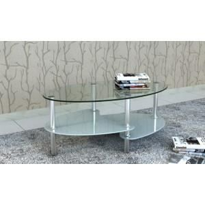 Table de salon table basse ovale blanche en v achat vente table basse - Table basse ovale blanche ...