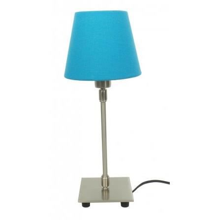 lampe de chevet abat jour bleu achat vente lampe de. Black Bedroom Furniture Sets. Home Design Ideas