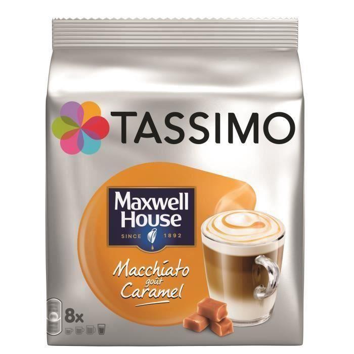 CAFÉ CAPSULE [LOT DE 5] Tassimo Maxwell House Macchitato Carame