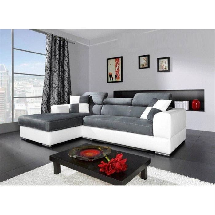 canap madrid i cuir pu microfibre angle gauche achat. Black Bedroom Furniture Sets. Home Design Ideas