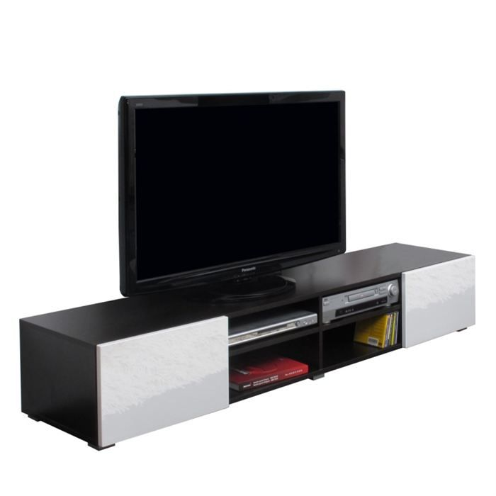 meuble tv blanc marron solutions pour la d coration. Black Bedroom Furniture Sets. Home Design Ideas
