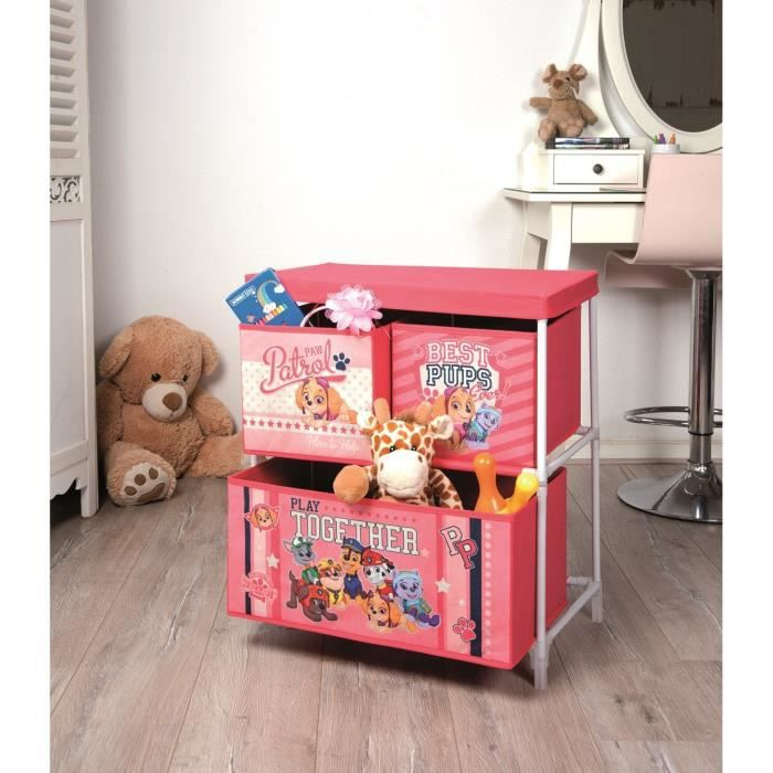 pat patrouille meuble de rangement rose achat vente. Black Bedroom Furniture Sets. Home Design Ideas