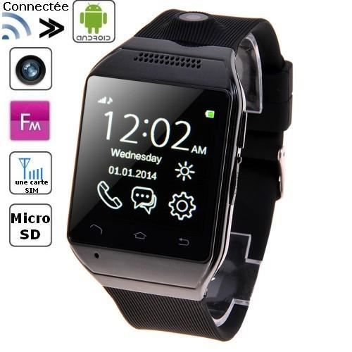 montre connect e t l phone 2g android clw208 achat vente montre connect e montre connect e. Black Bedroom Furniture Sets. Home Design Ideas
