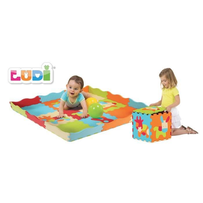 ludi tapis animaux en mousse multicolore achat vente tapis veil aire b b 3550839910058. Black Bedroom Furniture Sets. Home Design Ideas