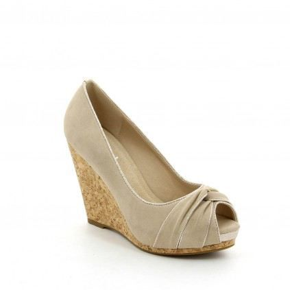 chaussure femme compensées candy… beige - Achat / Vente chaussure ...