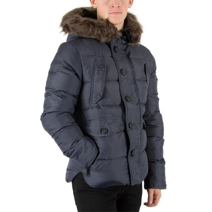 Vente Jacket Superdry Chinook Bleu Achat Homme Parka n77vqwYxR