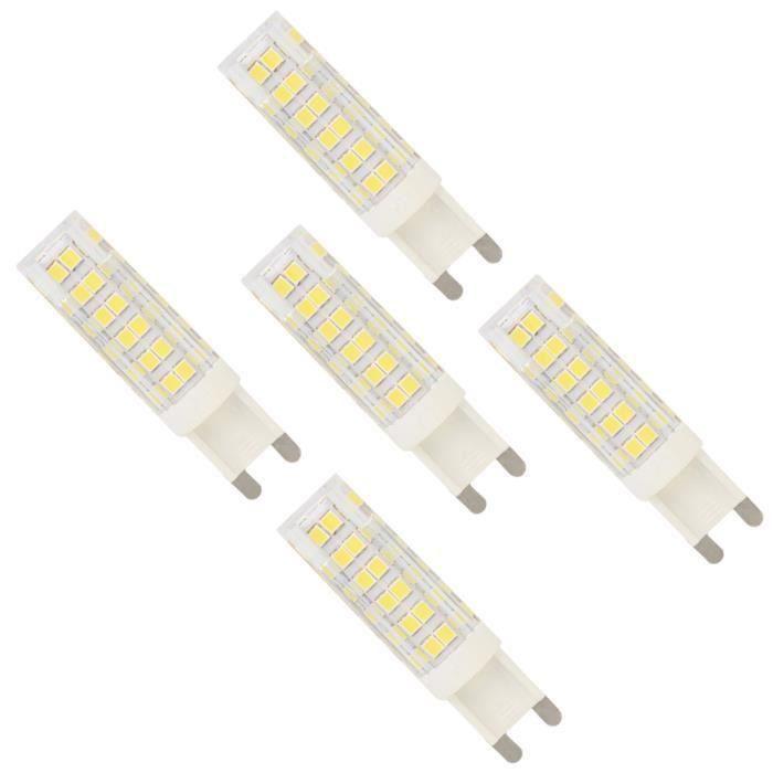 AMPOULE - LED 5pcs Ampoule LED G9 5W équivaut à 40W Blanc froid