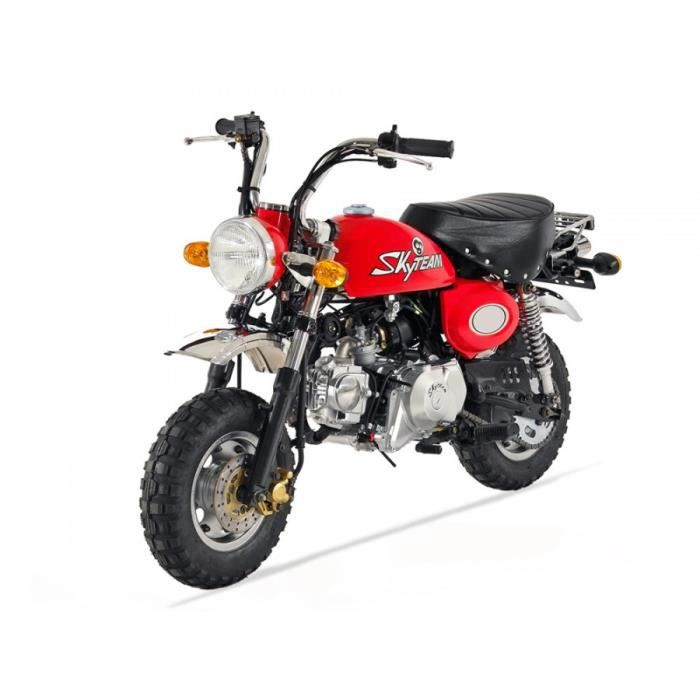 moto monkey 50 skyteam rouge homologu achat vente. Black Bedroom Furniture Sets. Home Design Ideas