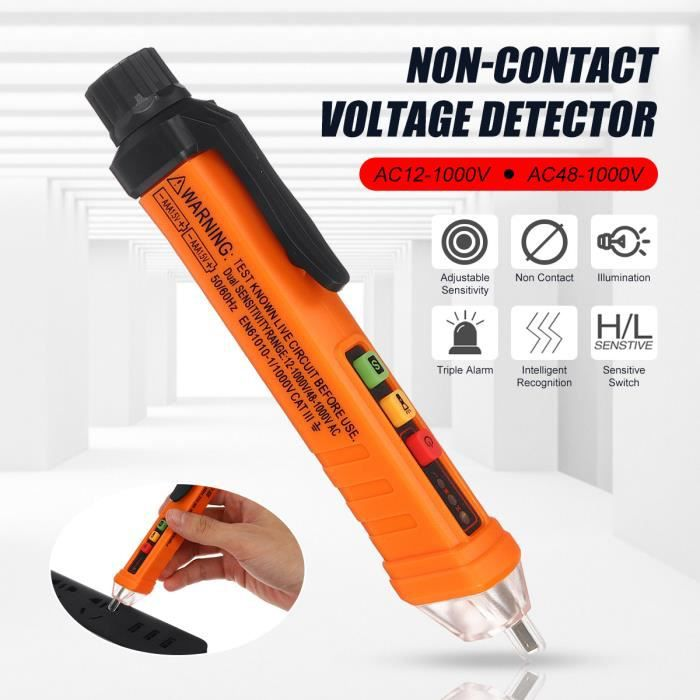 12 ~ 1000VAC Détecteur de circuit de tension sans contact Test de stylo à