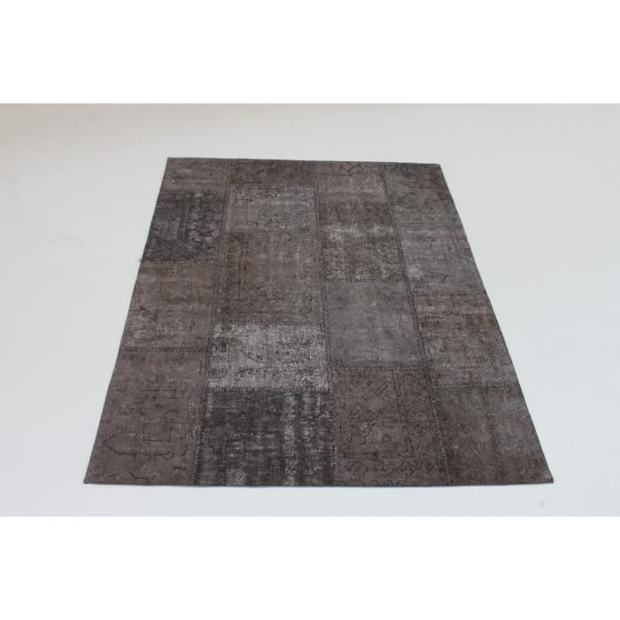 vivabita tapis patchwork vintage gris en coton topaz 160x230cm gris achat vente tapis. Black Bedroom Furniture Sets. Home Design Ideas
