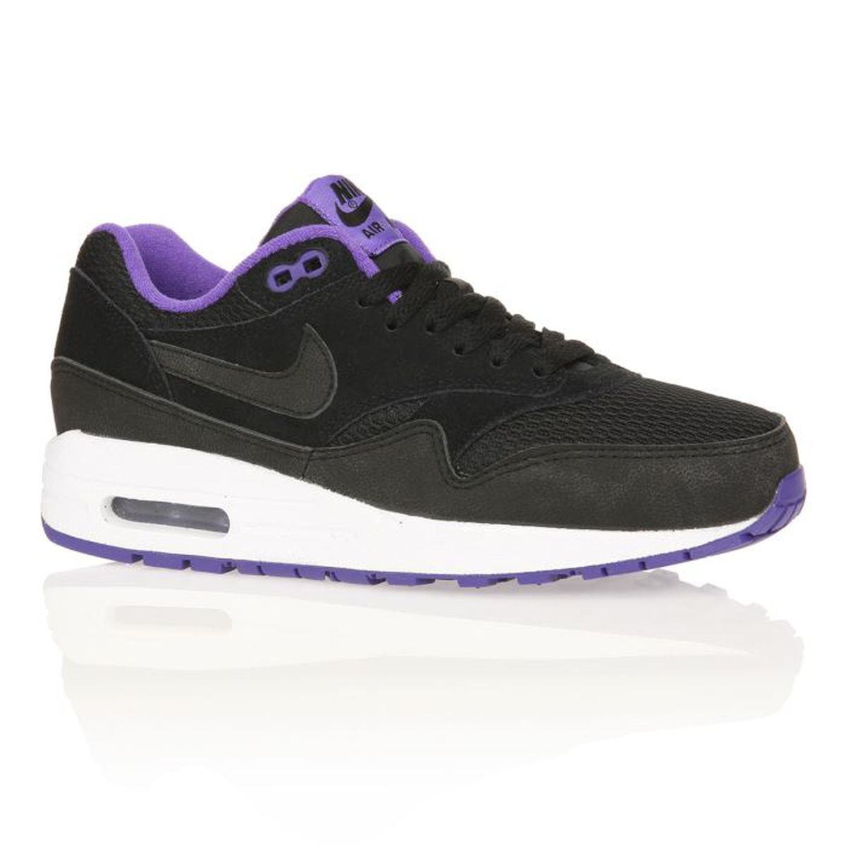 nike baskets air max 1 femme femme noir violet achat vente nike baskets air max 1 femme. Black Bedroom Furniture Sets. Home Design Ideas